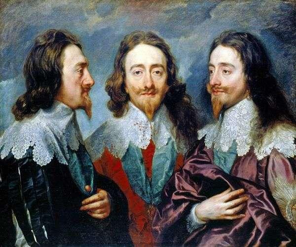 查理一世在三个角度   安东尼范戴克