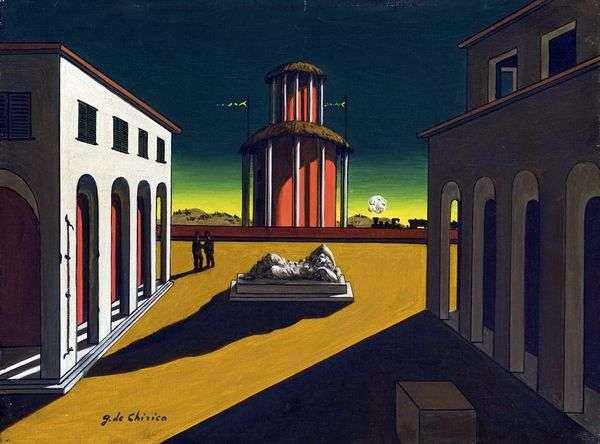 绘画中的意大利广场   Giorgio de Chirico