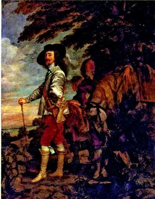 查理一世,英格兰国王,在追捕   安东尼范戴克