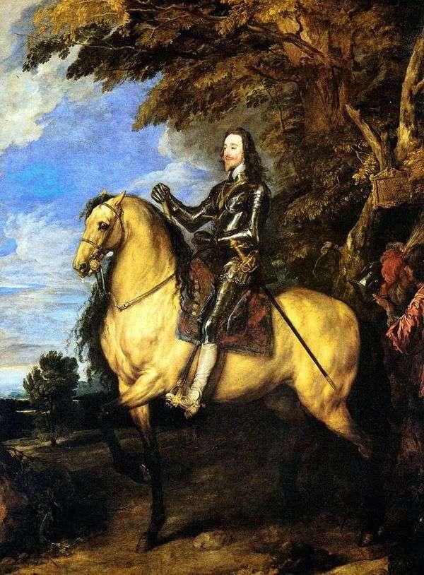 查理一世的马术肖像   安东尼范戴克