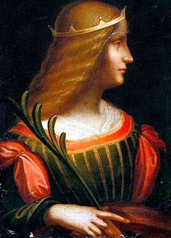 伊莎贝拉德埃斯特   莱昂纳多达芬奇的肖像