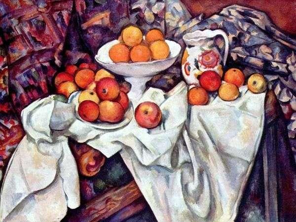 苹果和橘子的静物   Paul Cezanne