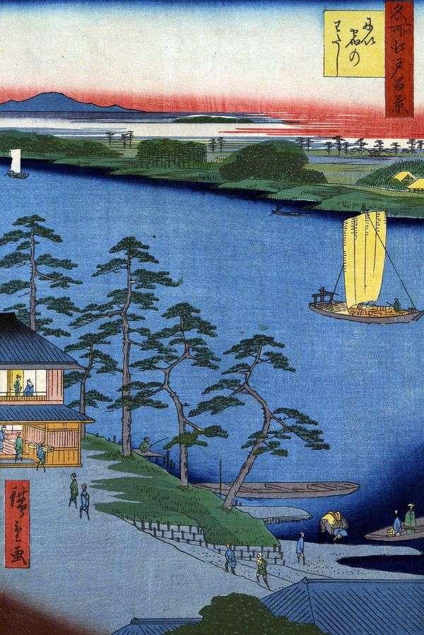 Niidzuku Ferry   Utagawa Hiroshige
