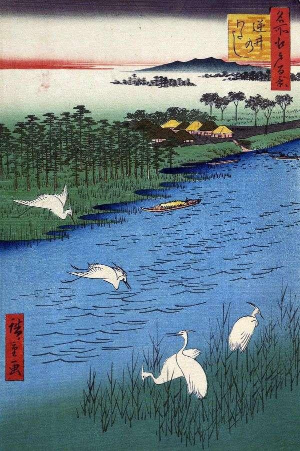 Sakasai Ferry   Utagawa Hiroshige