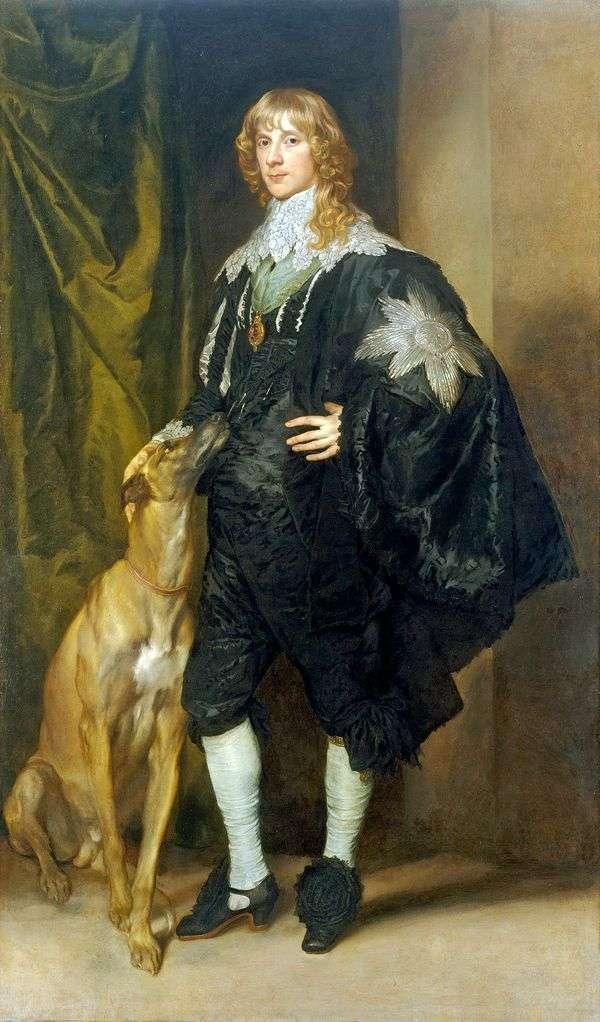 詹姆斯斯图尔特的肖像   安东尼范戴克
