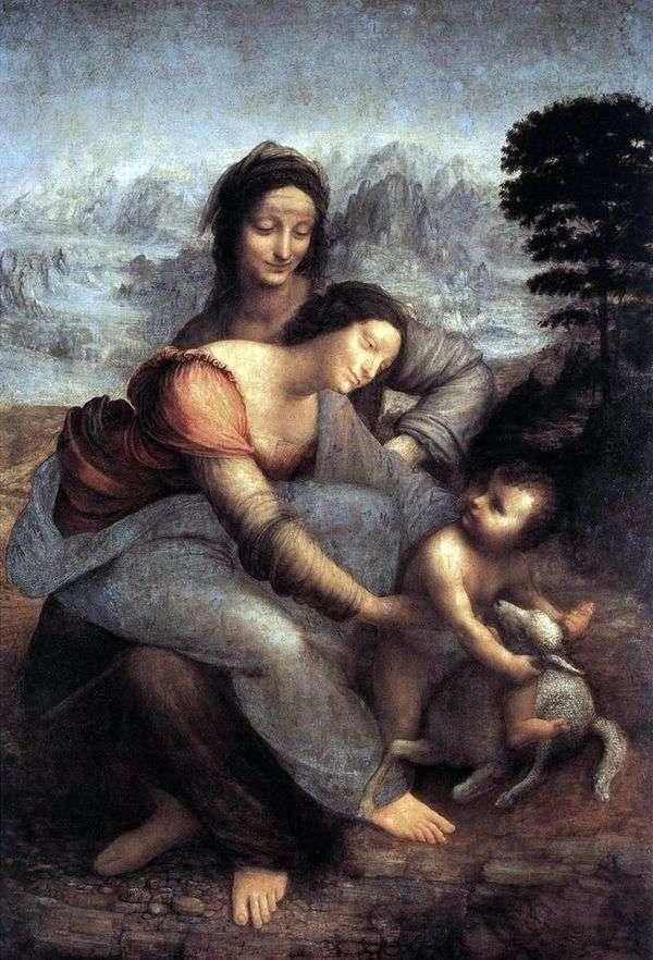 圣安娜和玛丽与婴儿基督   莱昂纳多达芬奇