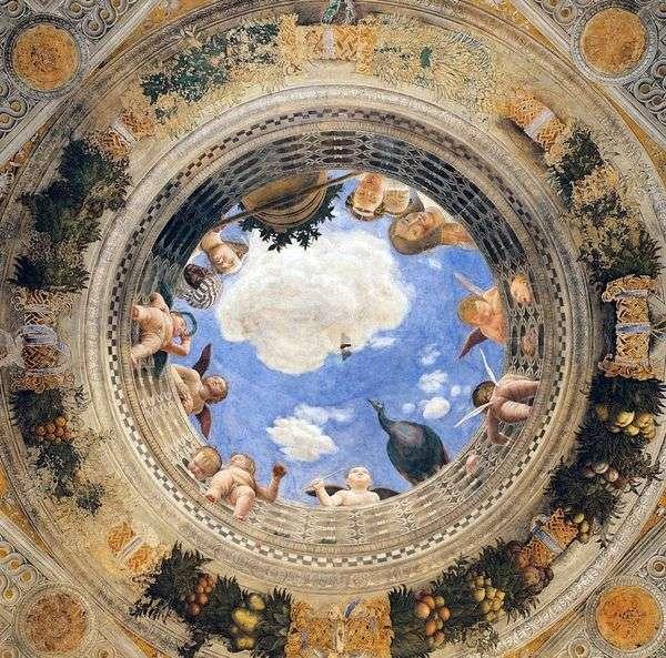 相机degli Spozi的圆顶壁画   Andrea Mantegna