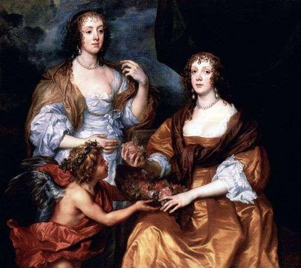 女士Elizabeth Timblbi和Dorothy Viscountess Andover的画像   Anthony Van Dyck
