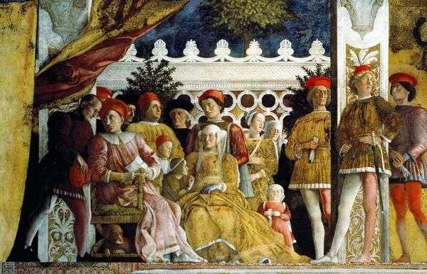 Ludovico Gonzaga,他的家人和院子   Andrea Mantegna