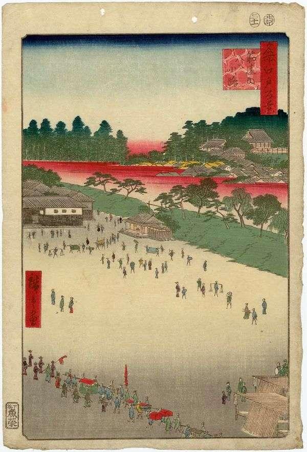 Square Sudzikai   Utagawa Hiroshige的八条街道
