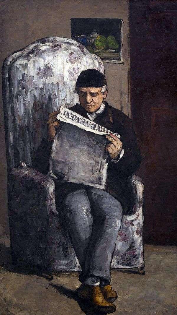 Louis Auguste Cezanne的肖像,艺术家之父,读Evenman   Paul Cezanne