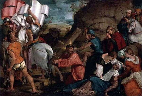 Calvary游行   Jacopo Bassano
