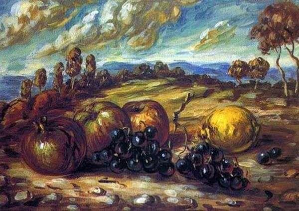 景观中的水果   Giorgio de Chirico