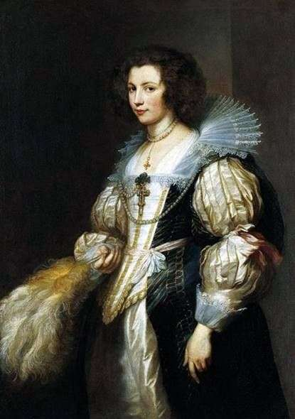 Maria Louise de Tassis的肖像   Anthony Van Dyck
