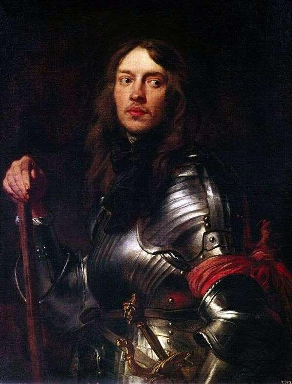 骑士的画象有红色臂章的   安东尼范戴克