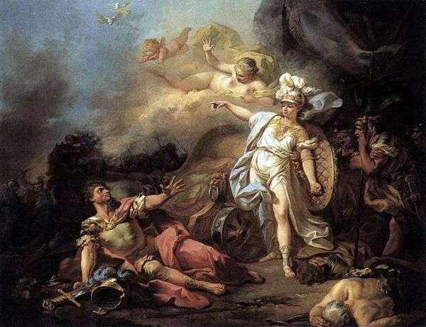 火星与密涅瓦之战   雅克路易斯大卫