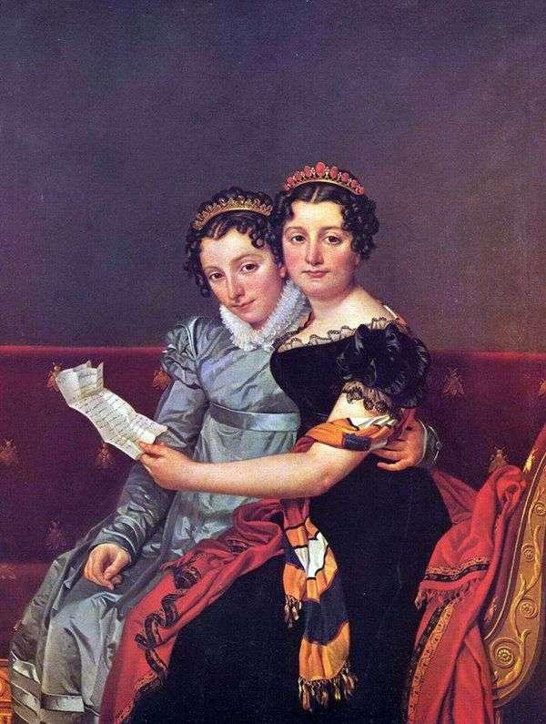 Zinaida和Charlotte Bonaparte   Jacques Louis David