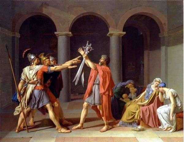 Horatii的誓言   Jacques Louis David