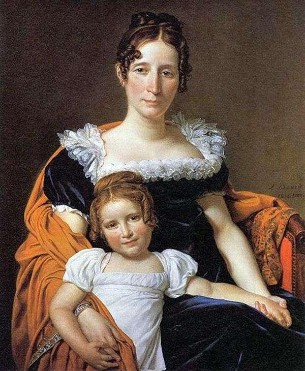 Kontessa Vilein XIIII和她的女儿   雅克   路易斯大卫