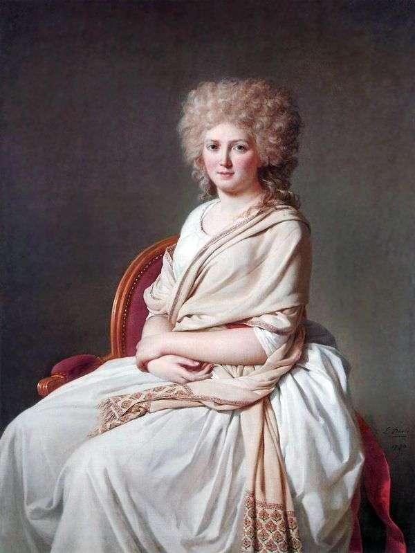 Contessa de Sorsey Anna Marie Felyuyen   Jacques Louis David