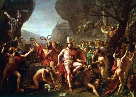 Thermopylae的Leonid   Jacques Louis David