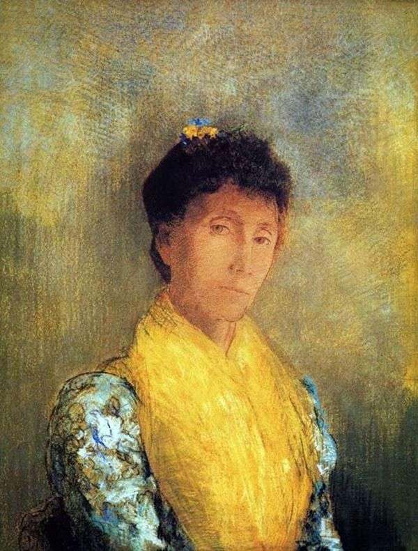 黄色的女人   Odilon Redon