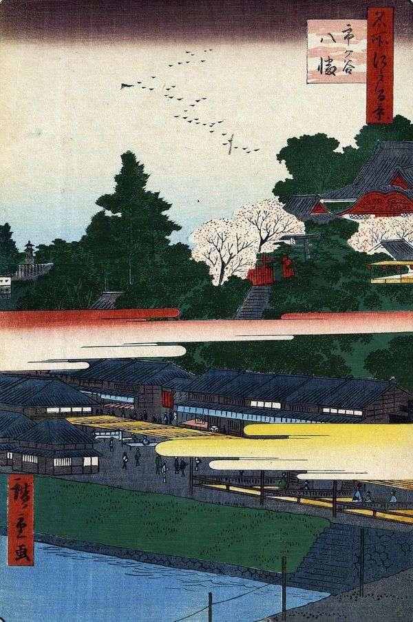 Itigaya的Hatiman Sanctuary   Utagawa Hiroshige