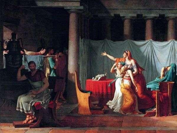 Lictors为Brutus带来了他被处死的儿子的尸体   Jacques Louis David