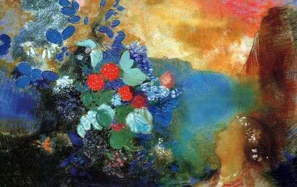 花中的奥菲莉亚   Odilon Redon
