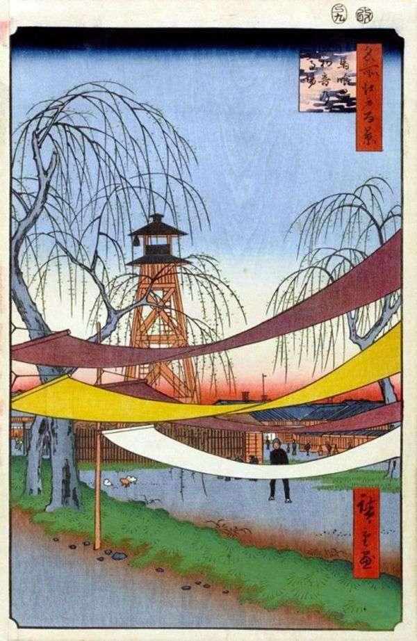 Bakurote区的初音赛圈   Utagawa Hiroshige