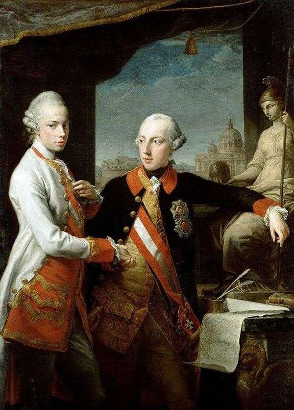 皇帝约瑟夫二世和托斯卡纳的利奥波德肖像   Pompeo Batoni