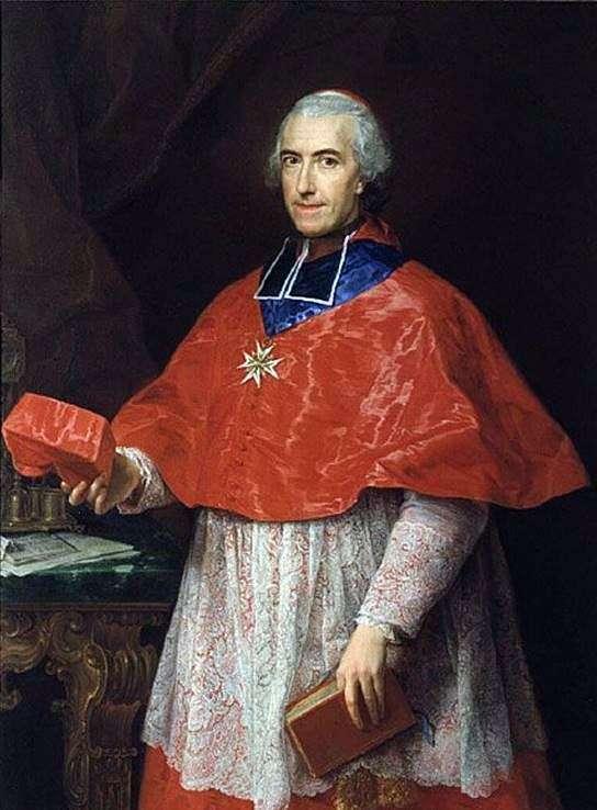 红衣主教Jean Francois de Rozheshuar的肖像   Pompeo Batoni