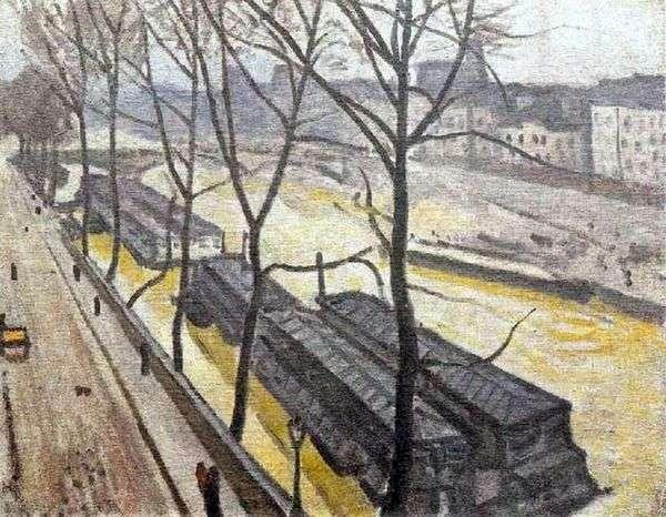 巴黎在冬天。波旁码头   阿尔伯特马奎特
