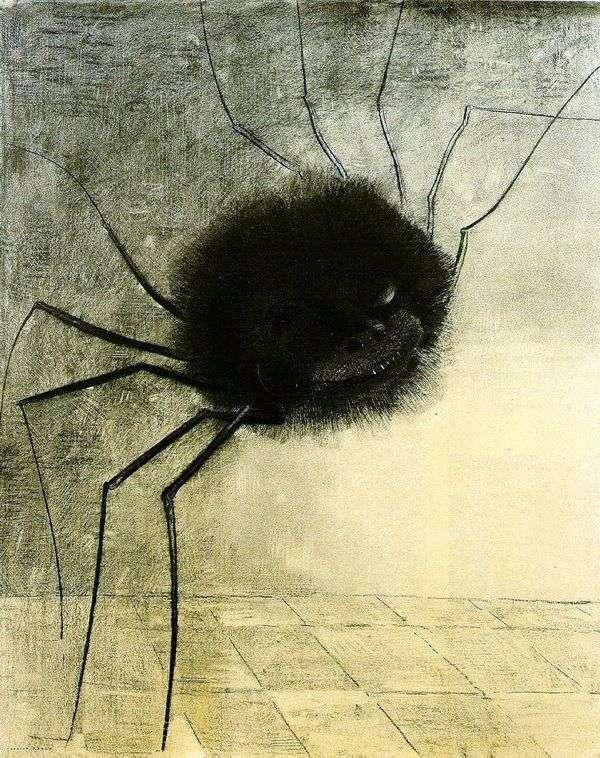 微笑的蜘蛛   Odilon Redon