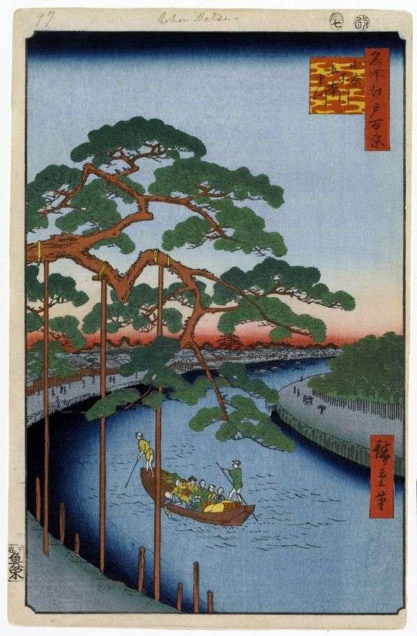 Onagigawa频道的PineGohonmatsu   Utagawa Hiroshige