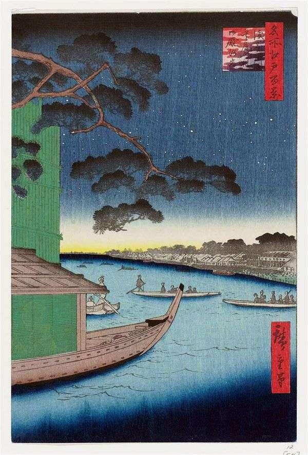 松山Syubi no Matsu在Asakusagawa河,Omayagashi堤防