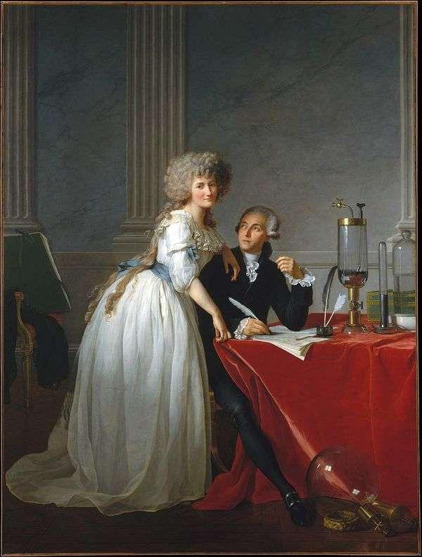 拉瓦锡和他的妻子玛丽安妮的肖像   雅克   路易斯大卫
