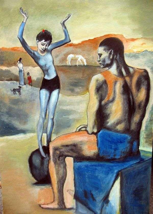 球上的女孩   Pablo Picasso