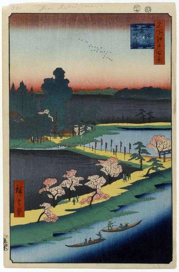 Azuma no Mori神社的融合樟树