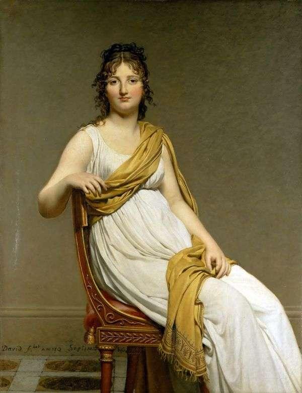 Henriette de Vernignac夫人的肖像   Jacques Louis David
