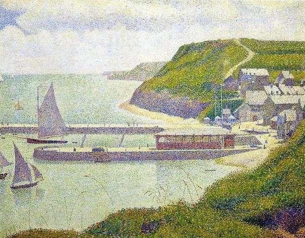Port en Bessin。海港。大水   Georges Cera