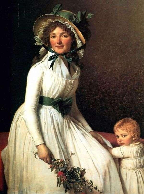 艾米莉亚 塞里西亚夫人的肖像   雅克 路易 大卫