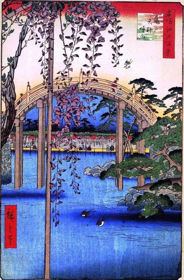 Kameido的圣所Tenzin的领土   Utagawa Hiroshige