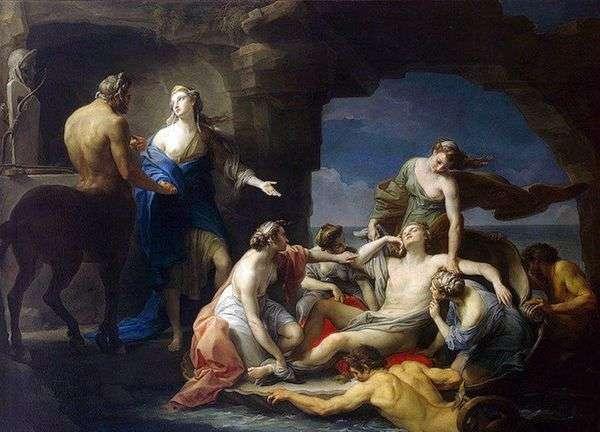 Chiron将Achilles送回他的母亲Thetis   Pompeo Batoni