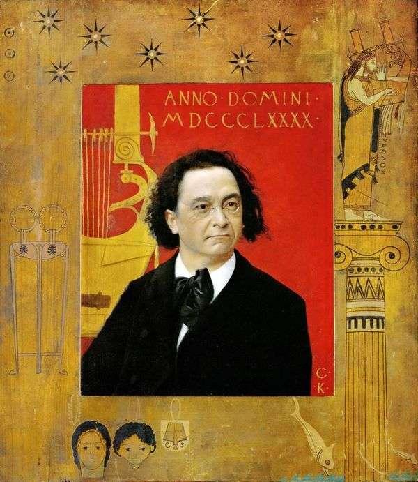 Joseph Pembauer,钢琴家和音乐老师的肖像   Gustav Klimt