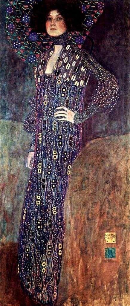 艾米利亚弗莱格画像   古斯塔夫克里姆特