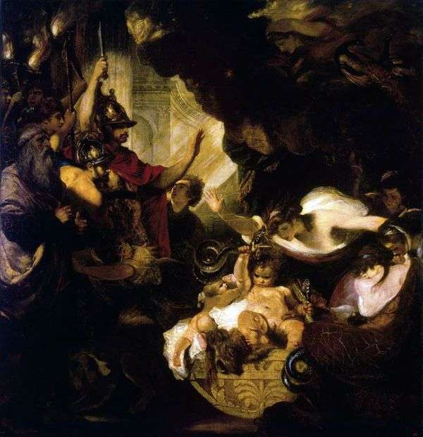 婴儿赫拉克勒斯扼杀蛇   约书亚雷诺兹