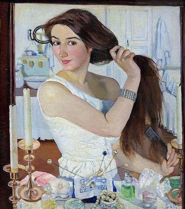 自画像(在厕所后面)   Zinaida Serebryakova