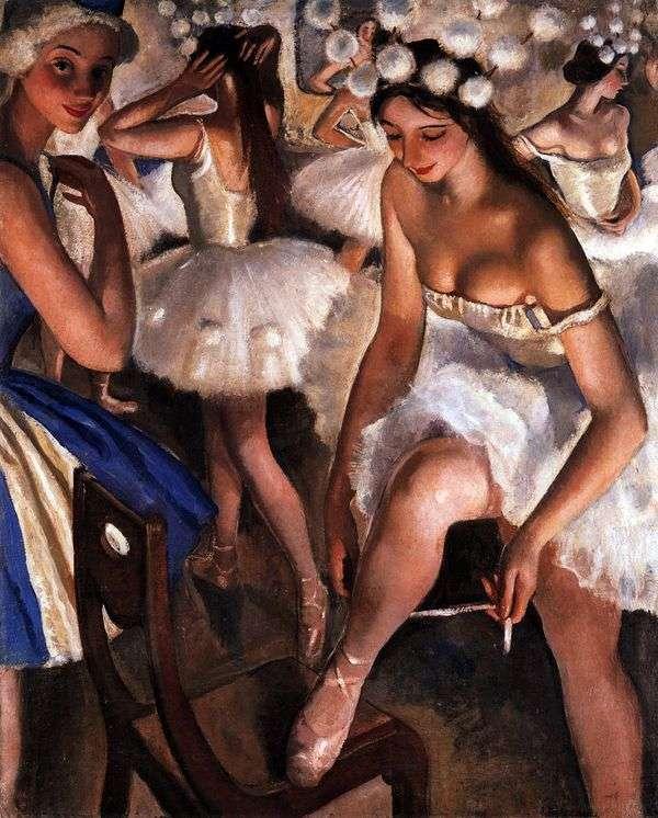 芭蕾卫生间。雪花   Zinaida Serebryakova