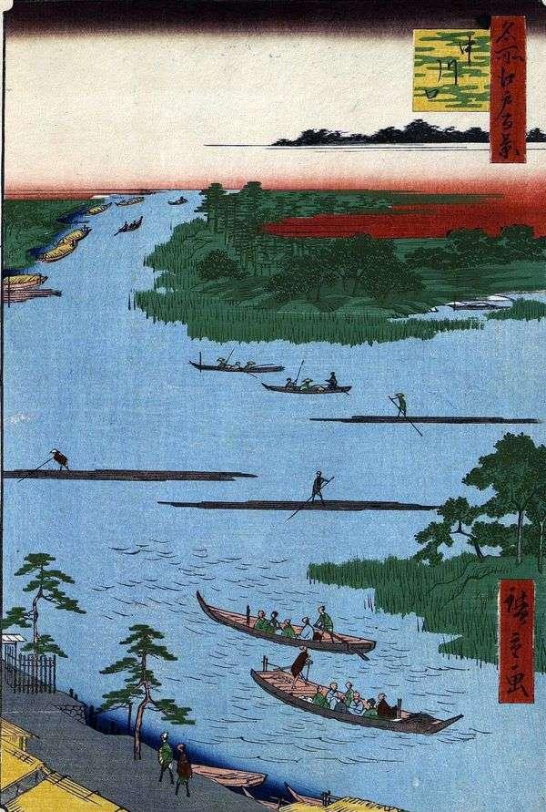 Nakagawa河口   Utagawa Hiroshige